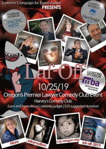 CEJ Laf-Off 2019 Lawyer Comedy Event