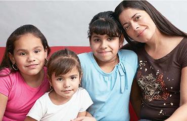 mom and 3 children